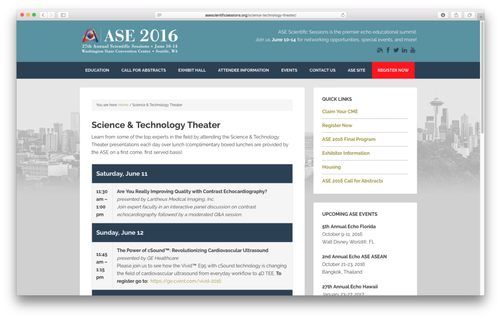 ASE Scientific Sessions Page