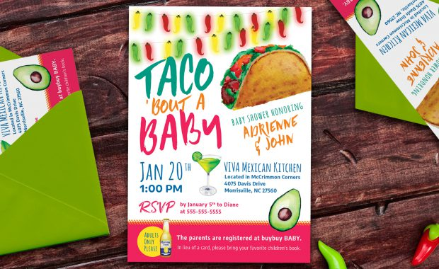 Taco Bout a Baby Invitation