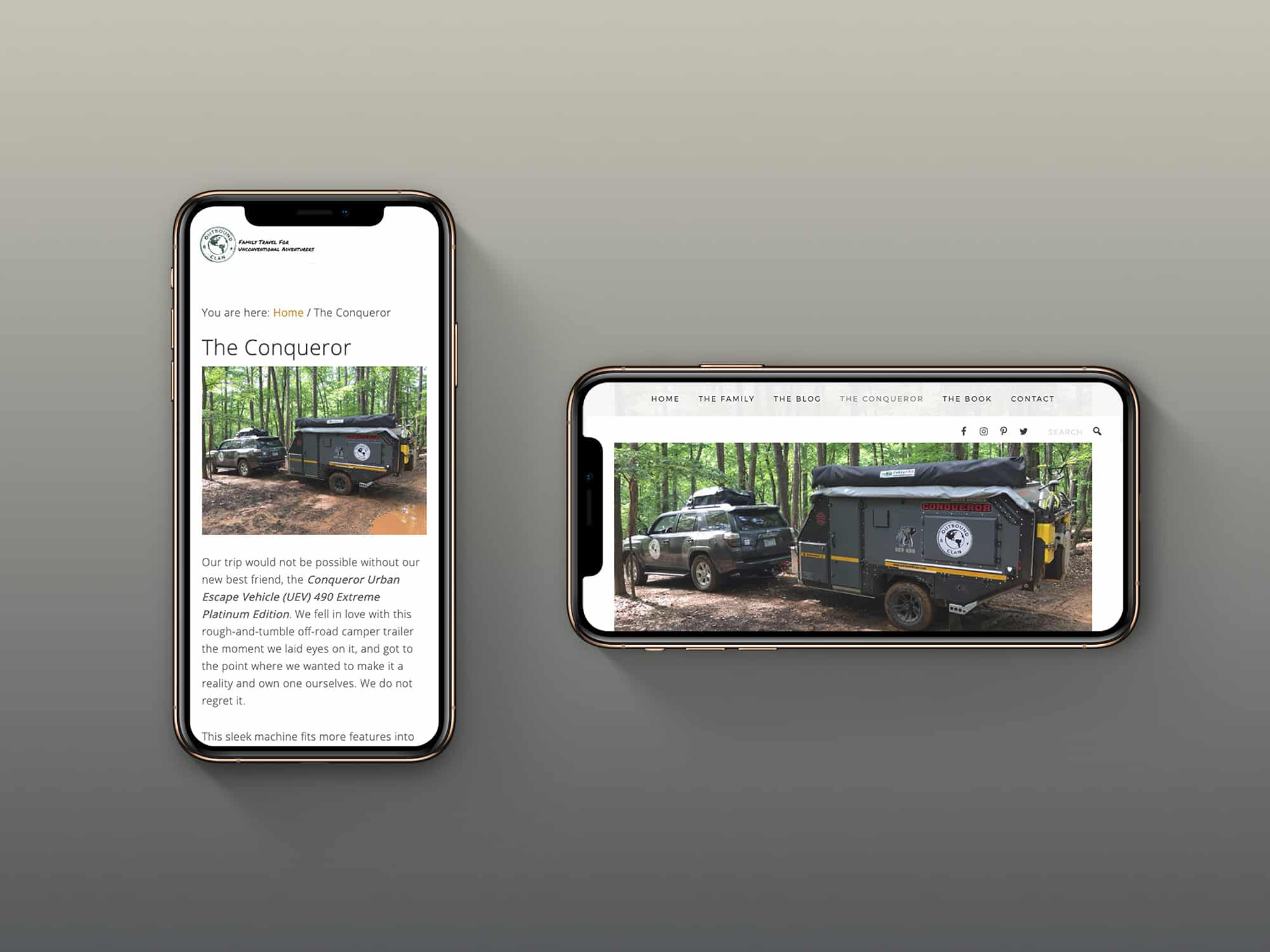 Outbound Clan Website on iPhone X
