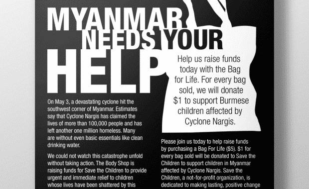 Cyclone Relief Poster